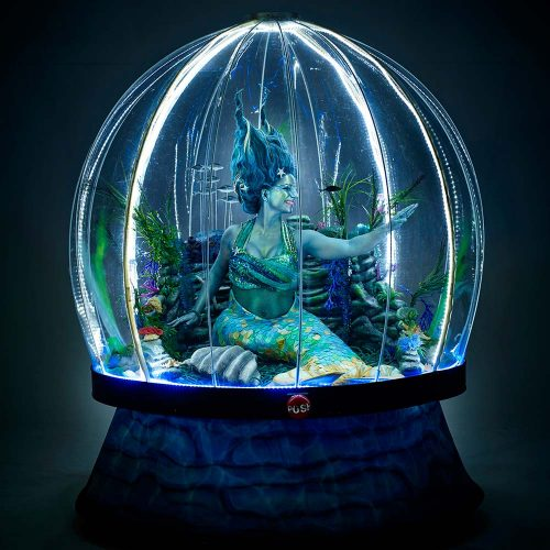 Sea Sphere illuminated mermaid act for sea-themed events