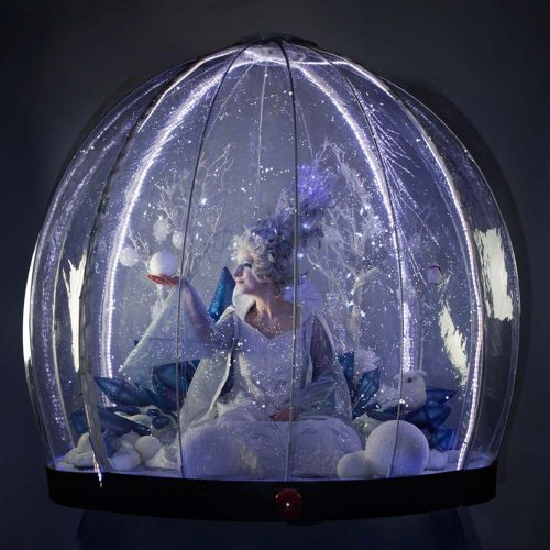 Snow Queen in the Living Snow Globe