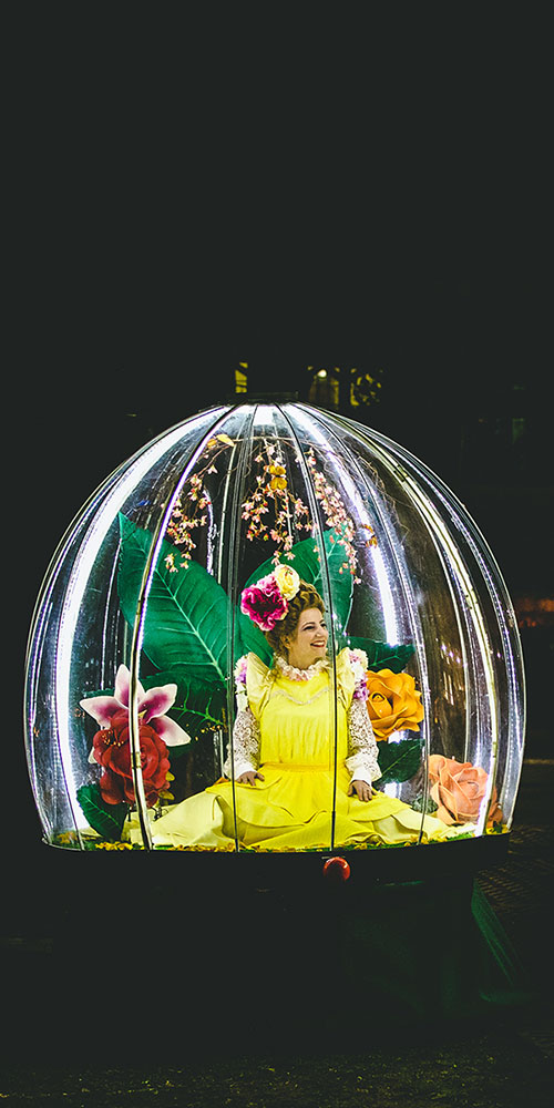 Enchanted Flower Globe spring entertainment for events