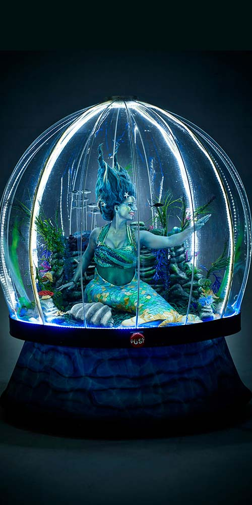 Sea Sphere illuminated mermaid act for sea themed events