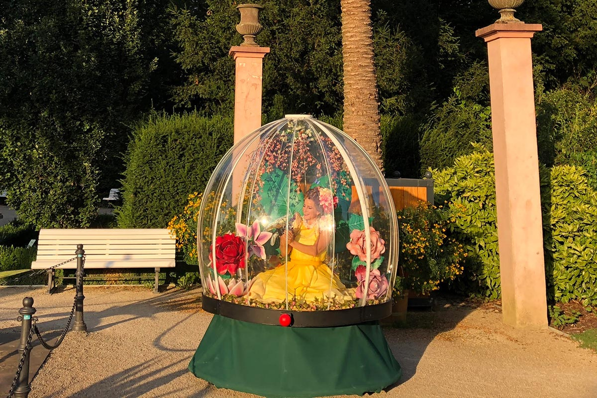 Enchanted Flower Globe entertainment for wedding and civil ceremony parties