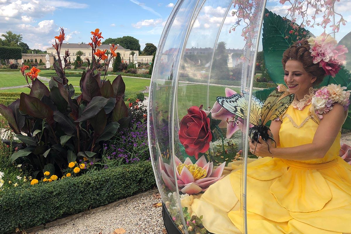 Enchanted Flower Globe entertainment for weddings and civil ceremonies